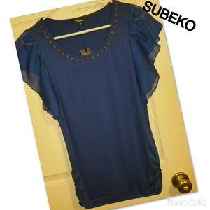 "💜Womens Royal blue ""SUBEKO"" blouse"